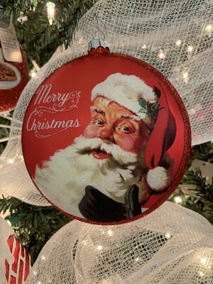 Santa Disc Ornament