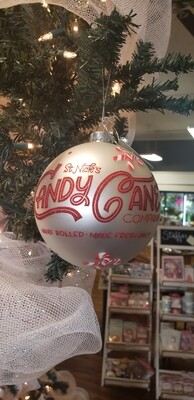 Candy Cane Co Ball Ornament