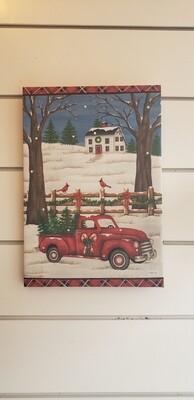 Santa's Ride Light Up Canvas