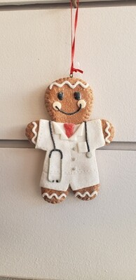 Nurse And Doctor Gingerbread Ornament
