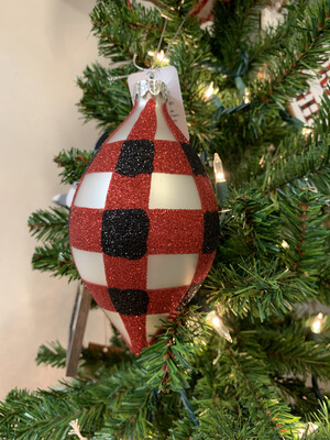 Red And Black Check Ornament
