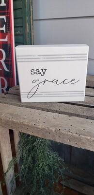 Say Grace Box Sign
