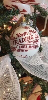 North Pole Trading Co Ball Ornament