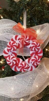 Peppermint Wreath Ornament
