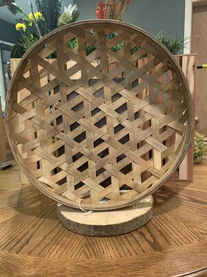 Tobacco Basket Round-Light brown
