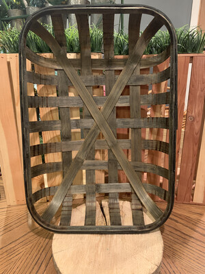 "Tobacco Long Basket 2 Piece Set- 22"" & 20"" Dark Grey"