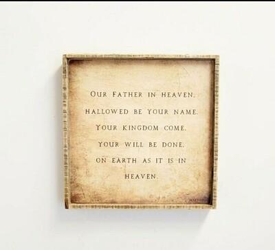 Lords Prayer- Papyrus 20x20