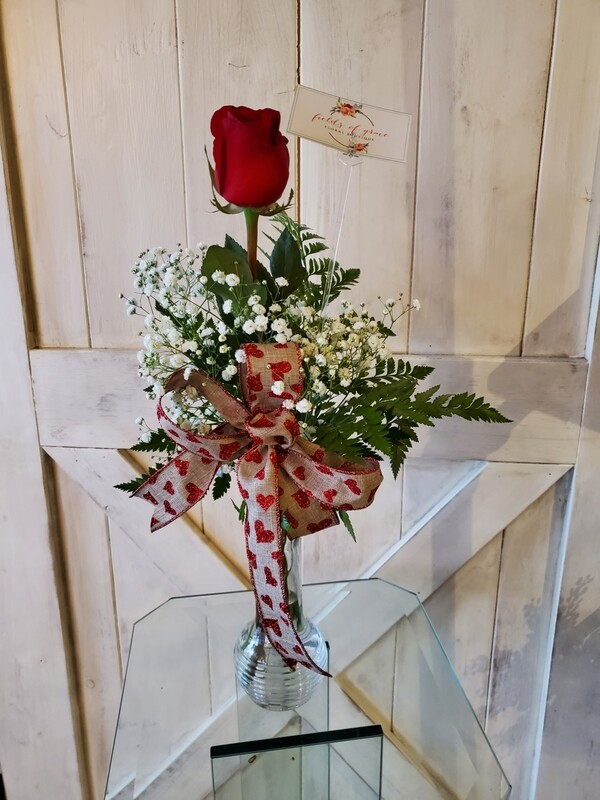 Single Rose Vase Bouquet