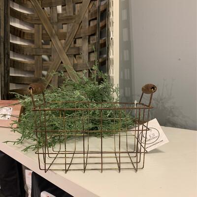 Rusty Wire Basket Med 7x5.25