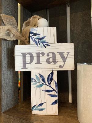 Pray Cross 4.75x7 Hanging