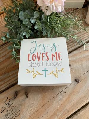 Jesus Loves Me Prayer Box 5x5