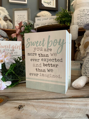 Sweet Boy 5.5x7.25