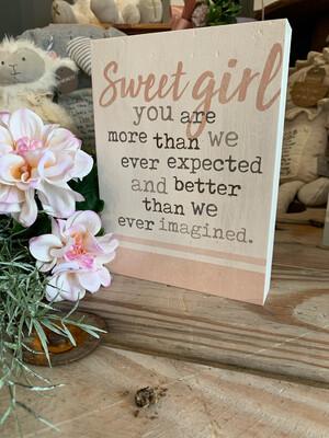Sweet Girl 5.5x7.25