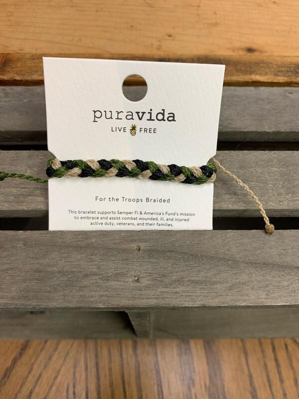 PuraVida For The Troops Braided Bracelet
