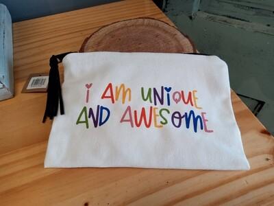 I Am Unique Cosmetic Bag