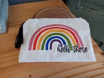 Hello Rainbow Cosmetic Bag