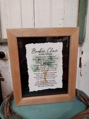 Broken Chain Framed 10.75x12.75