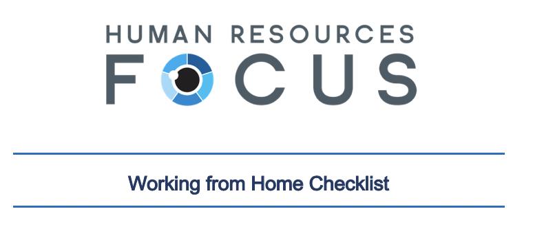 Working from Home CHECKLIST - FREE