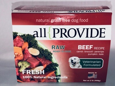 ALL PROVIDE RAW BEEF 2#