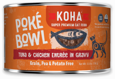 KOHA CAT POKE TUNA/CHX 5.5oz