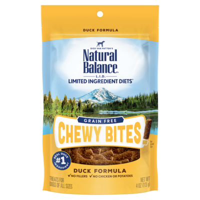 NAT BAL CHEWY BITS DUCK 4oz