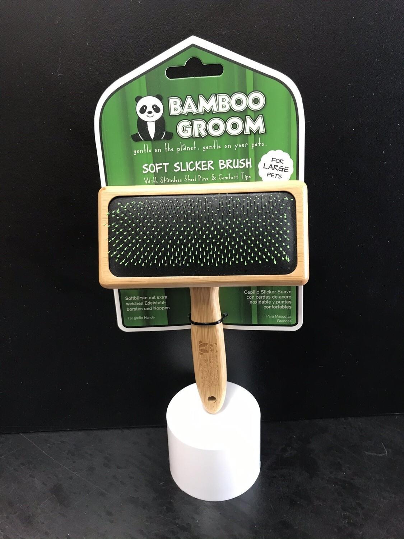 PAW BAMBOO SOFT SLICKER BRUSH LG