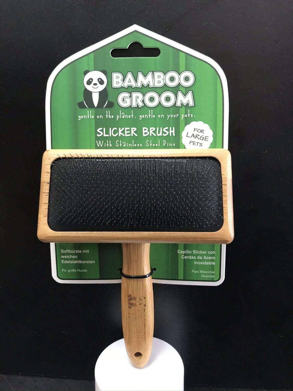 PAW BAMBOO SLICKER BRUSH LG