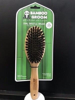 PAW BAMBOO OVAL BRISTLE BRUSH LG