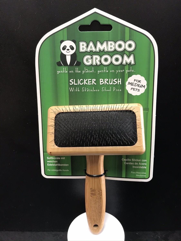 PAW BAMBOO SLICKER BRUSH MD