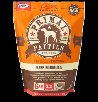 PRIMAL PATTIES BEEF 6#