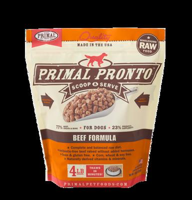 PRIMAL PRONTO BEEF 4#