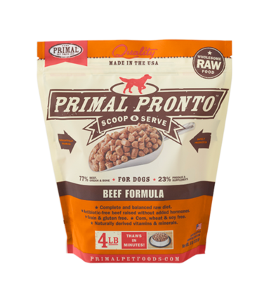 PRIMAL PRONTO BEEF 3/4# TRIAL