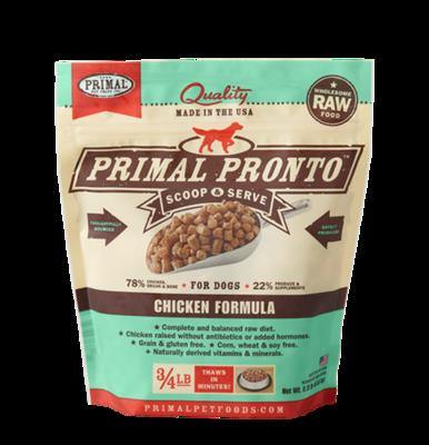 PRIMAL PRONTO CHICKEN 3/4# TRIAL