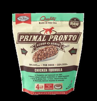PRIMAL PRONTO CHICKEN 4#