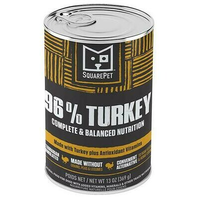 SQUAREPET 96% TURKEY 13oz