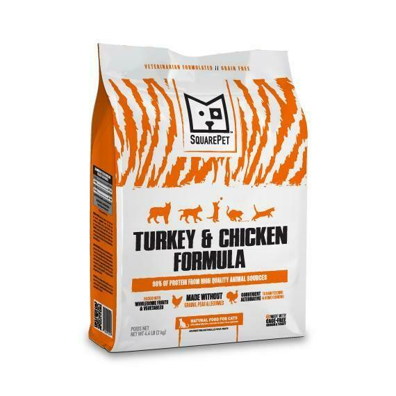 SQUAREPET CAT TKY/CHX 4.4#
