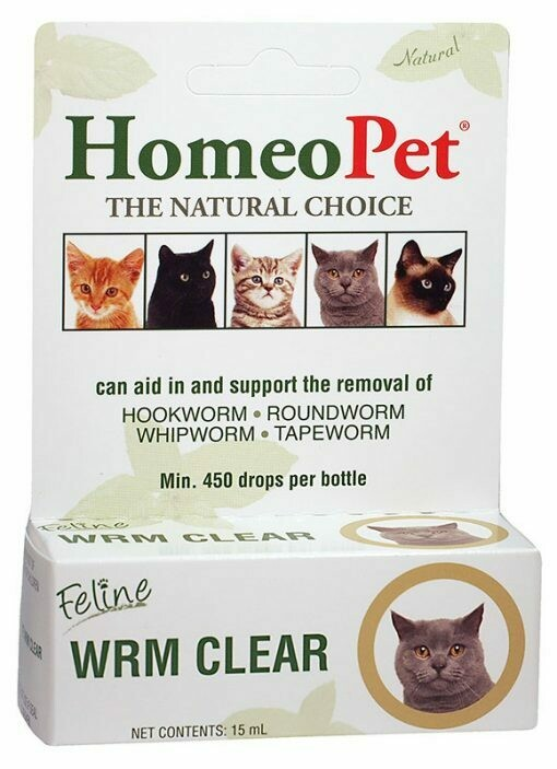 HOMEOPET FELINE WORM CLEAR