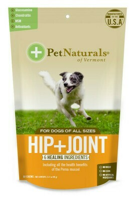 PET NAT HIP & JOINT CHEW 60CT