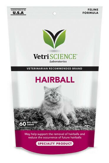 VETRI SCIENCE CAT HAIRBALL 60CT