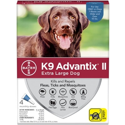 ADVANTIX DOG XL +55# 4pk