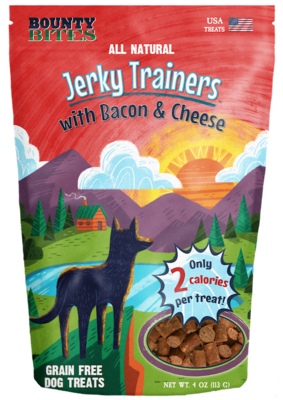 WMF JERKY TRAINERS BACON & CHEESE 4oz
