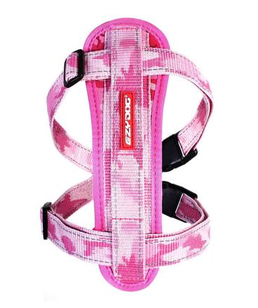 EZY CHEST PLATE PINK CAMO LG