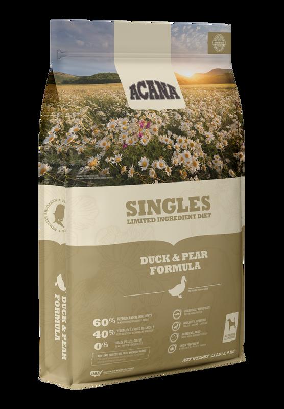 ACANA SINGLES DUCK & PEAR 4.5#