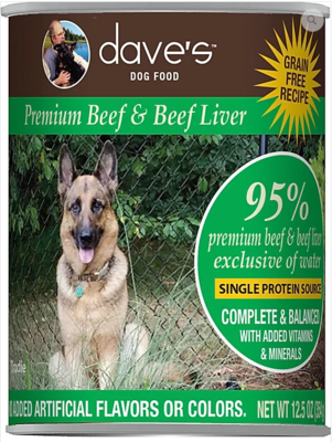 DAVES 95% BEEF/LIVER 13oz