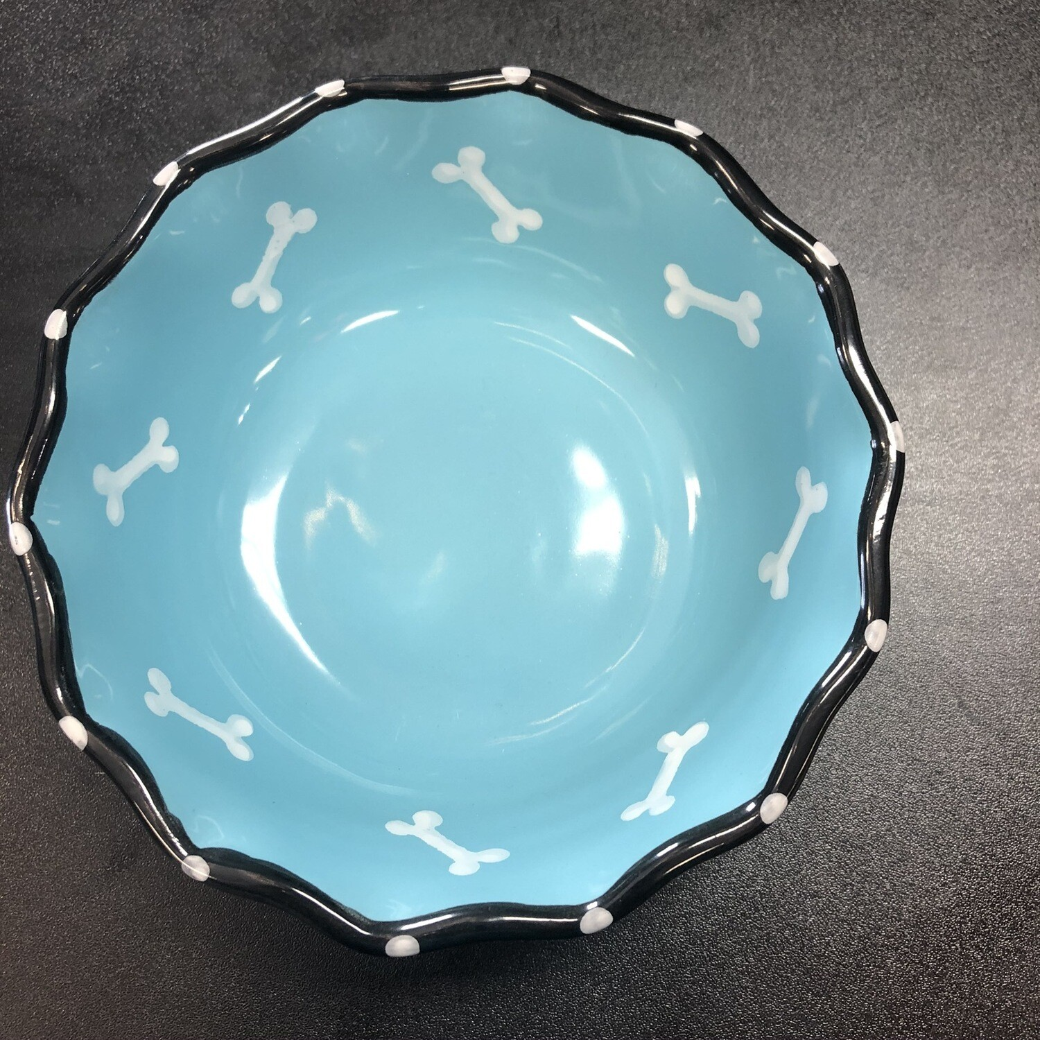 ETH DISH CONTEMPORARY RUFFLE BLUE 7""