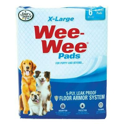 WEE WEE PADS XLG 6CT