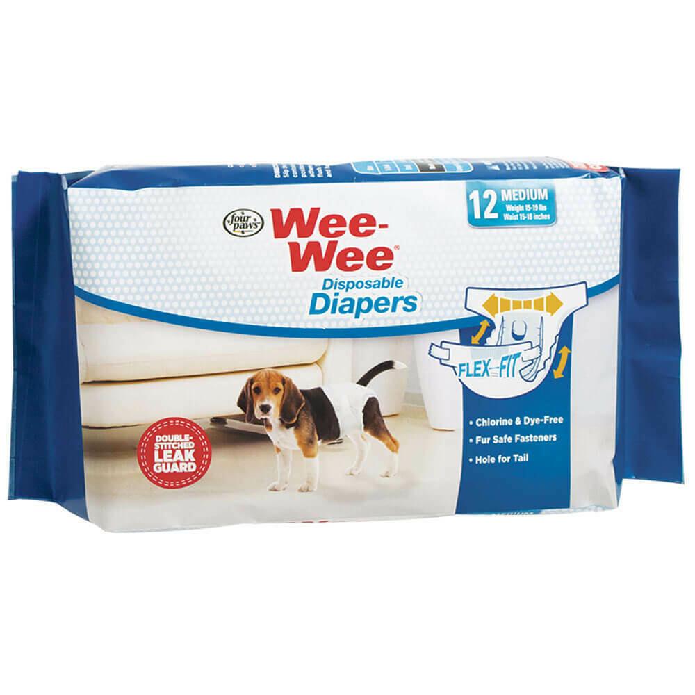 WEE WEE DISP DIAPERS MD 12pk