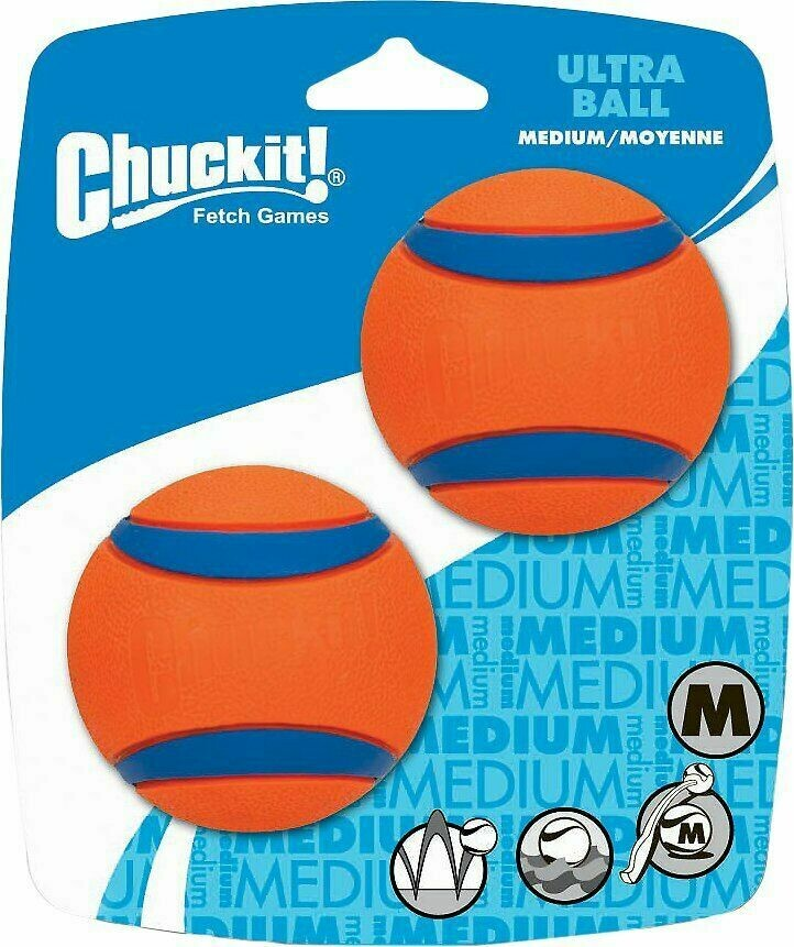 CHUCKIT TOY BALL ULTRA MD 2PK