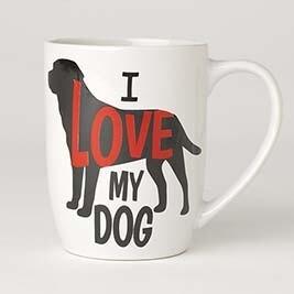 PETRAGEOUS I LOVE MY DOG MUG