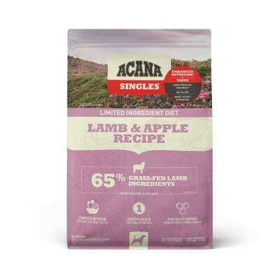 ACANA SINGLES LAMB & APPLE 4.4#